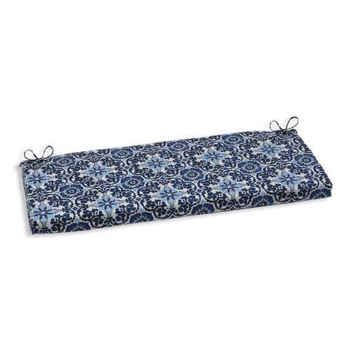 Pillow Perfect Woodblock Prism Blue Bench Cushion