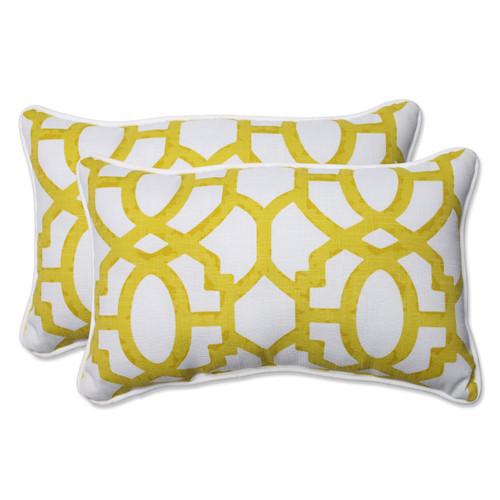 Pillow Perfect Nunu Geo Wasabi Rectangular Throw Pillow (Set of 2)