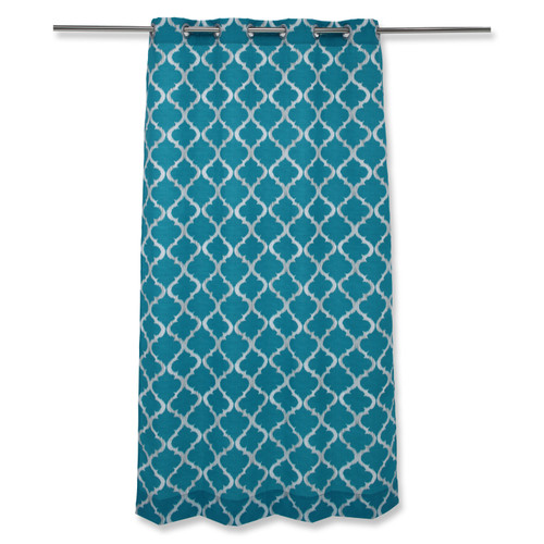 Pillow Perfect Kobette Teal 82-inch Drapery Panel