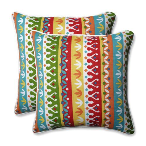 Pillow Perfect Cotrell Garden 18.5-inch Throw Pillow (Set of 2)