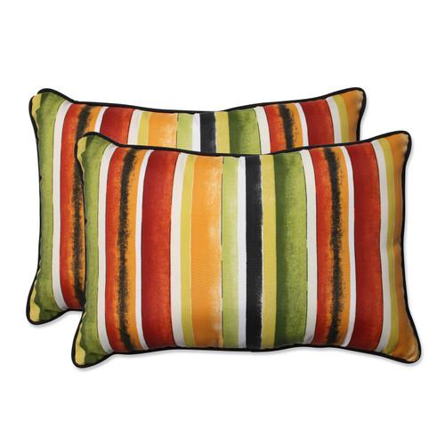 Pillow Perfect Dina Noir Over-sized Rectangular Throw Pillow (Set of 2)