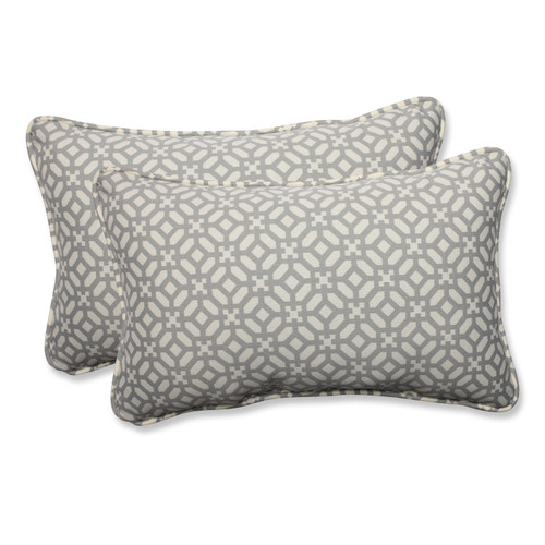 Pillow Perfect In The Frame Pebble Rectangular Throw Pillow (Set of 2)