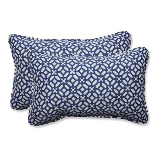 Pillow Perfect In The Frame Sapphire Rectangular Throw Pillow (Set of 2)