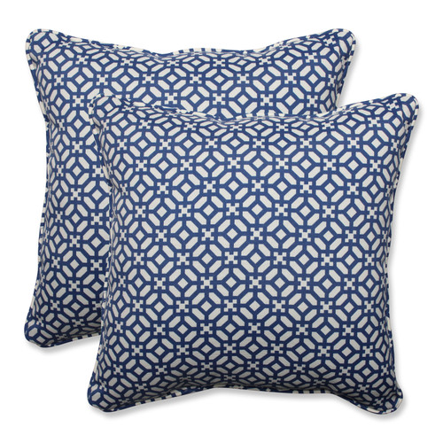 Pillow Perfect In The Frame Sapphire 18.5-inch Throw Pillow (Set of 2)