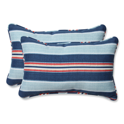 Pillow Perfect Kingston Stripe Arbor Rectangular Throw Pillow (Set of 2)