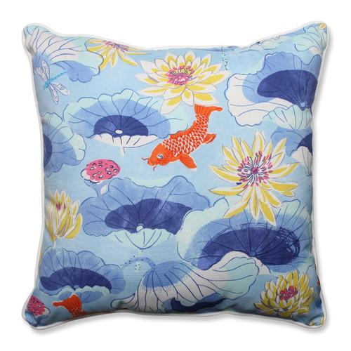 Pillow Perfect Lotus Lake Cobalt 25-inch Floor Pillow