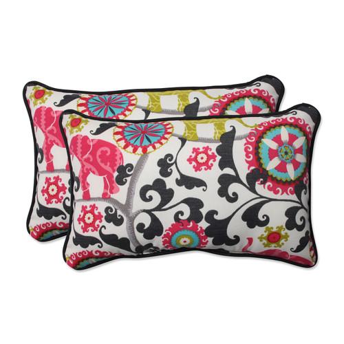 Pillow Perfect Menagerie Spectrum Rectangular Throw Pillow (Set of 2)