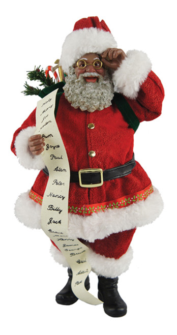 "Santa's Workshop 10"" Traditional Santa with List"