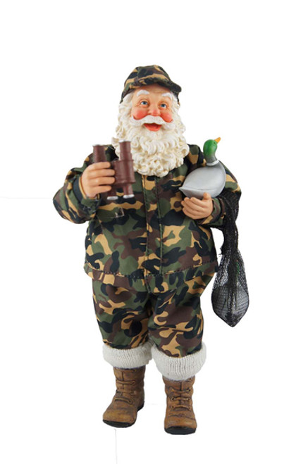 "Santa's Workshop Duck Hunter Santa 10"""
