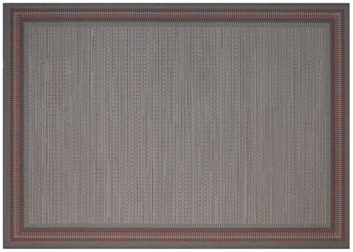 "Treasure Garden Outdoor Rug Edge Chili 5'3"" x 7'4"""