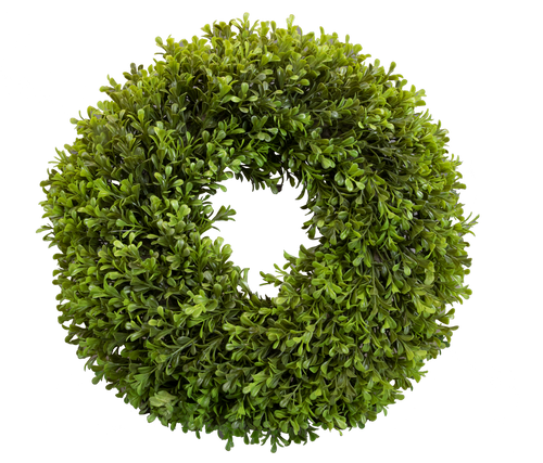 Spring Boxwood Artificial Round Wreath 16""