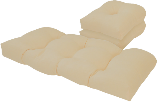 Outdoor Taupe 3 Piece Cushion Set