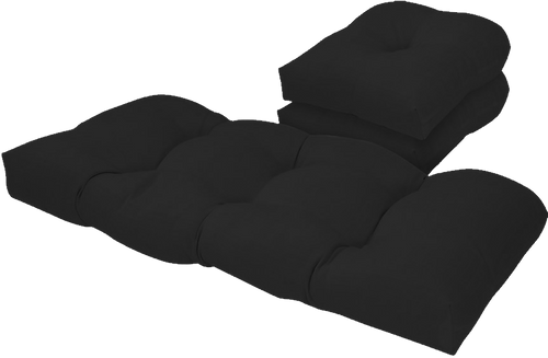 Outdoor Black 3 Piece Cushion Set