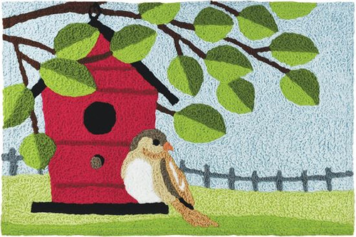 "Birdhouse Perch Jellybean Rug 20"" x 30"""
