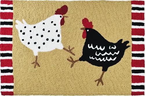 """Chicken Dance Jellybean Rug 20"""" x 30"""""""