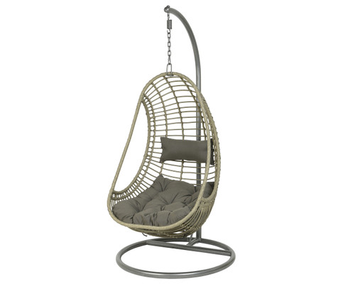 Riga Hanging Chair Grey