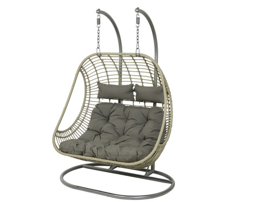 Riga Two Seat Hanging Chair Grey