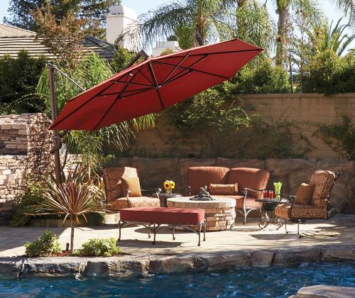 Treasure Garden 11' AKZ Plus Cantilever Octagon Umbrella with Base