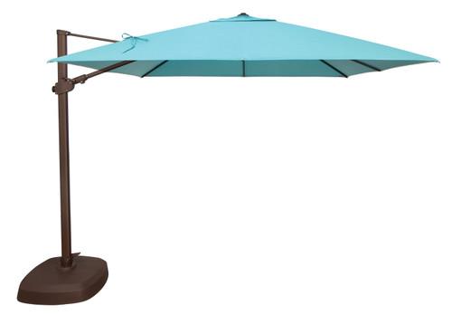Treasure Garden 10' AG25TSQ Square Cantilever Umbrella with AKZ Base