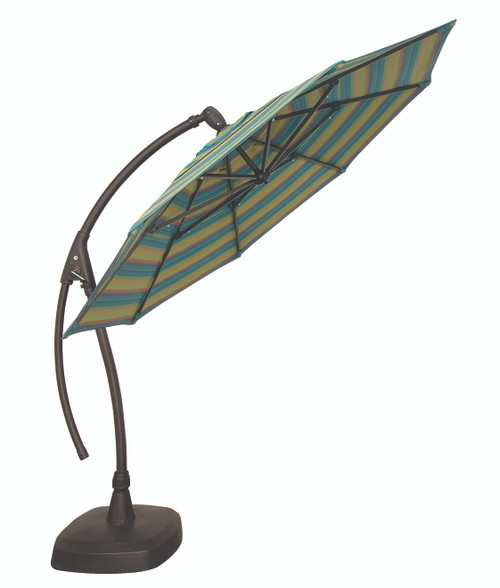 Treasure Garden 11' AG28 Octagon Umbrella with AGRK Base
