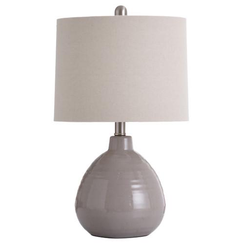 "Ceramic Table Lamp Putty Gray 21.5"""