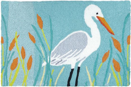 "Egret And Cattails Jellybean Rug 20"" x 30"""