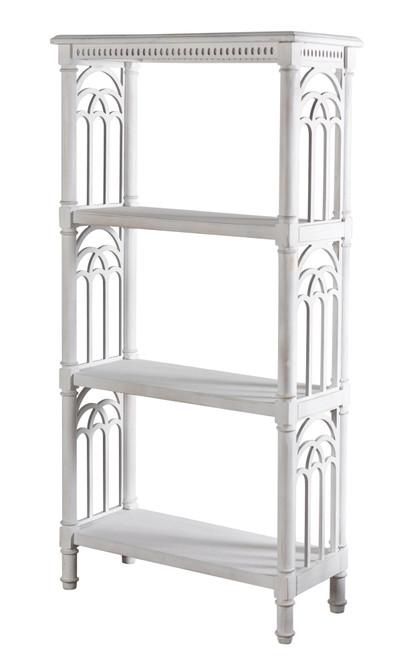 "Wood 4 Shelf Accent Bookcase White 62"""