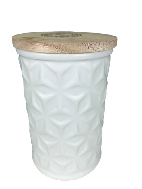 Swan Creek White Collection Round Canister Fresh Strawberry