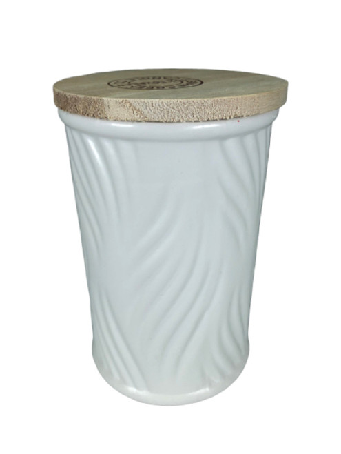 Swan Creek White Collection Round Canister Thai Pear