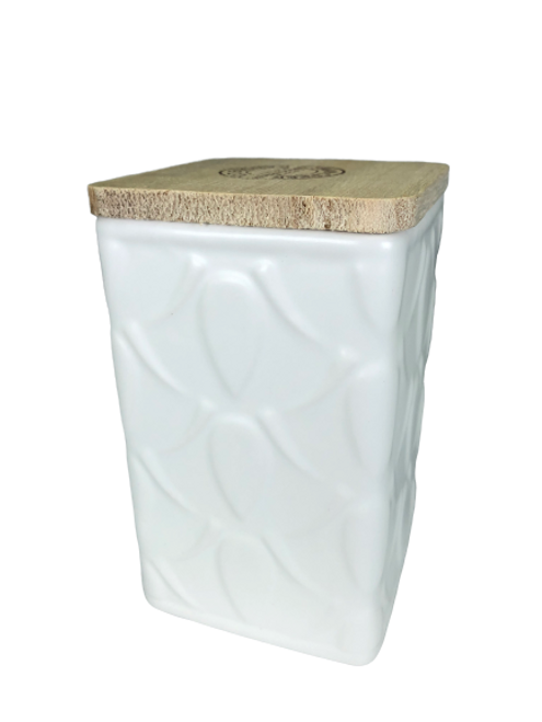Swan Creek White Collection Square Canister Farmers Market