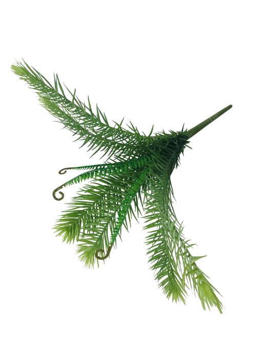 "Cycas Fern Plant Plastic 17"" Set of Three"
