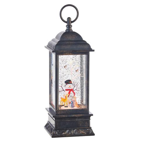 "Raz Imports Snowman Musical Lighted Water Lantern 11"""