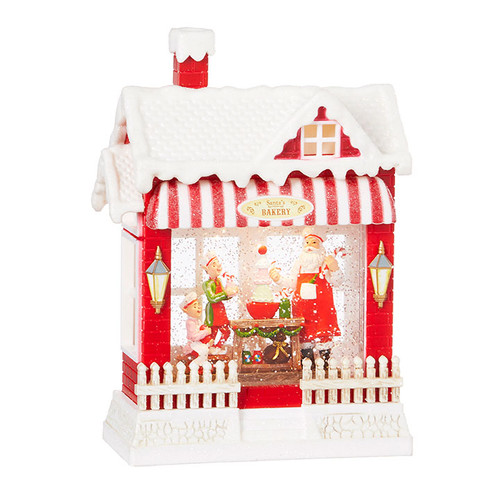 Raz Imports Santa's Musical Lighted Water Bakery 10""