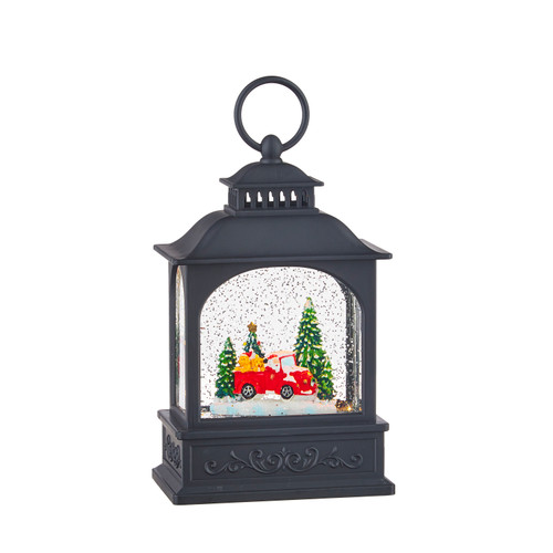 """Raz Imports Dogs in Truck Lighted Water Lantern 8.5"""""""