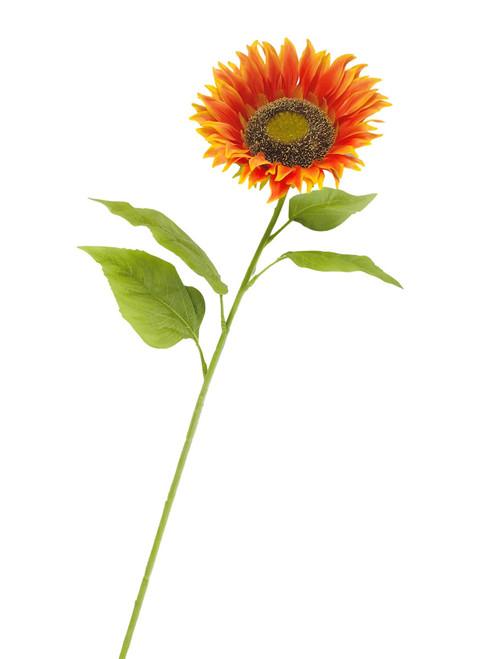 Sunflower Large Stem 39 inch Set of 3 Orange