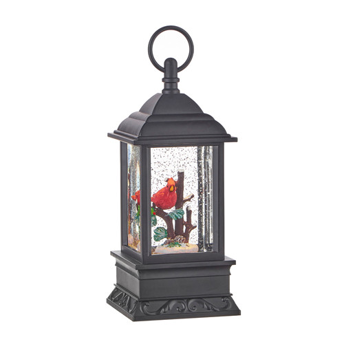 "Raz Imports Cardinal Lighted Water Lantern 9.5"""