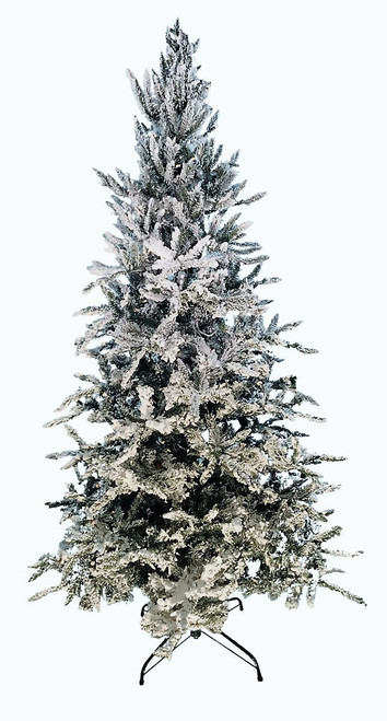 12' Flocked Balsam Fir Prelit Artificial Christmas Tree with AlwaysLit Technology