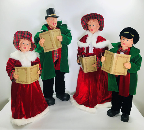 "Dickens Carolers Set of Four Large 27""-35"""