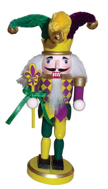 "Santa's Workshop Mardi Gras Nutcracker Ornament 6"""