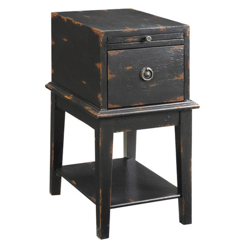 Coast to Coast  1 Drawer Accent Table Weathered Black