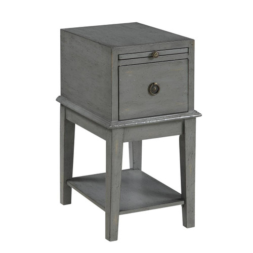 Coast to Coast 1 Drawer Accent Table Joplin Texture Grey