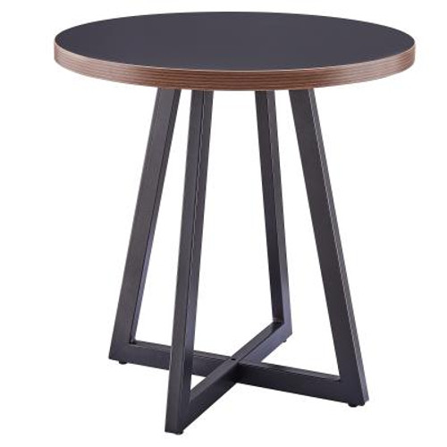 Courtdale KD Round End Table, Black