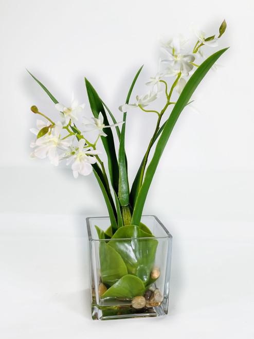"""Vanda Orchid in Glass Water Look 13"""""""