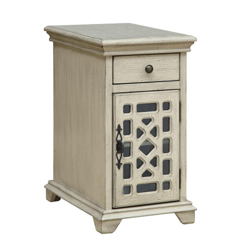 Fretwork Chairside Cabinet Cream