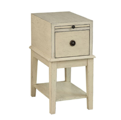 Coast to Coast  1 Drawer Accent Table Weathered Ivory