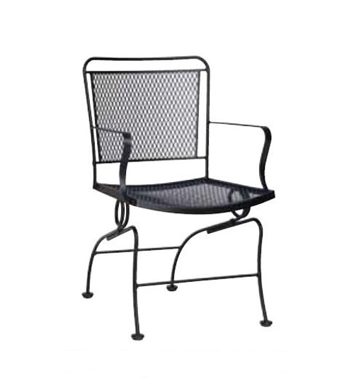 Woodard Constantine Outdoor Coil Spring Dining Chair