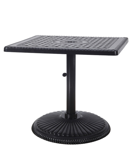 """Gensun Grand Terrace Outdoor 30"""" Square Pedestal Dining Table"""