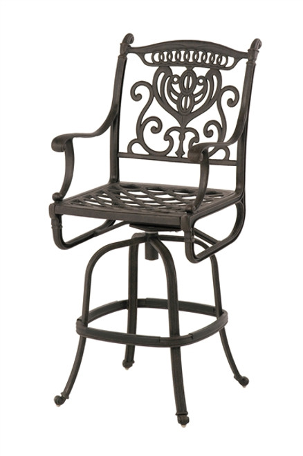 Hanamint Grand Tuscany Outdoor Swivel Bar Stool