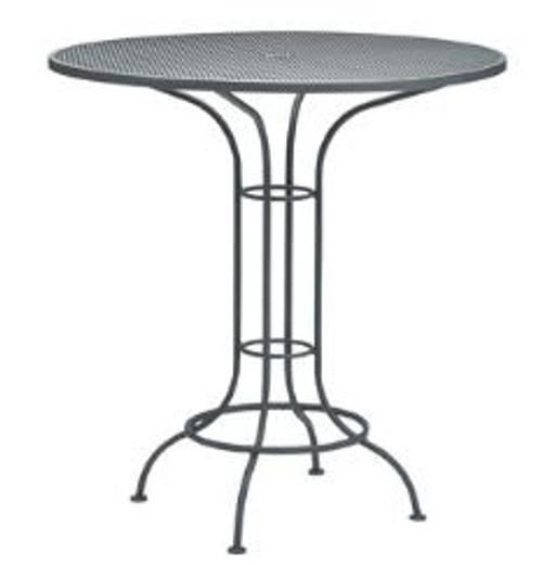 "Woodard Outdoor 42"" Round Bar Height Umbrella Table"