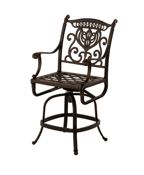 Outstanding Hanamint Grand Tuscany Outdoor Swivel Counter Height Stool Bralicious Painted Fabric Chair Ideas Braliciousco